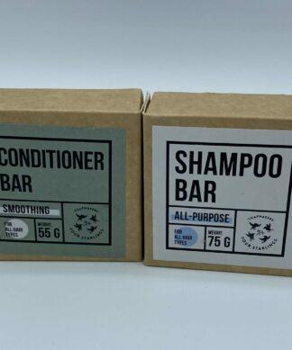 Cztery Szpaki Zestaw szampon i odżywka w kostce