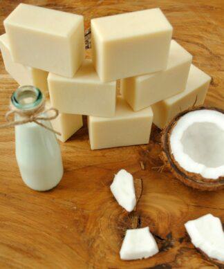 Kostka Mydła Mydło z mlekiem kokosowym